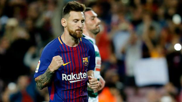 Pênalti com categoria, no cantinho, de direita e de primeira: veja os 4 gols que Messi marcou contra o Eibar