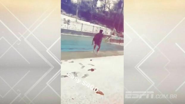 Calouro do Atlanta Hawks pula na piscina no meio de nevasca e fatura 'fáceis $400'