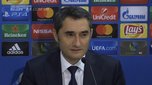 Ex-técnico do Olympiacos, Valverde lamenta empate do Barça e destaca torcida: 'Sabia o que iria enfrentar'