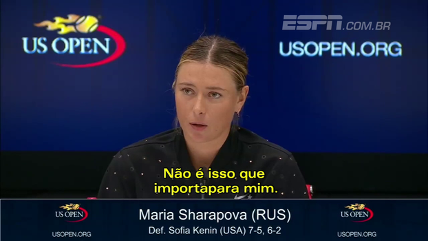 Sharapova responde Wozniacki e diz que não se importa com local onde joga