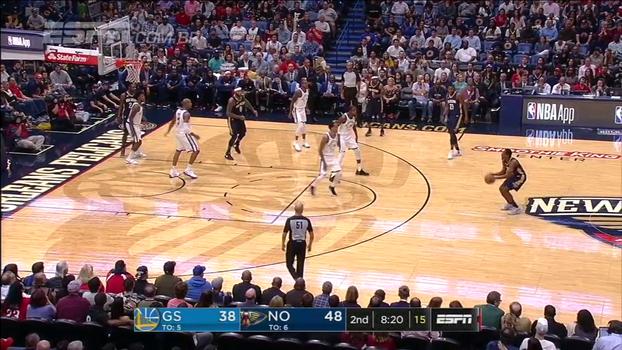 De muito longe, Jordan Crawford acerta linda bola de 3 contra o Golden State Warriors