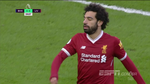 Tempo real: Salah chuta travado, e Firmino quase abre o placar com cabeçada em escanteio