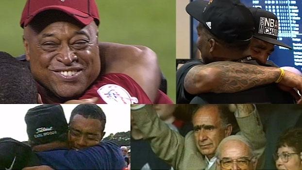 De JR Smith a Tiger Woods e Pete Sampras; relembre momentos em que família emocionou atletas