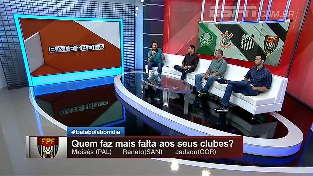 Moisés, Renato ou Jadson: quem faz mais falta aos seus clubes? Bate Bola analisa