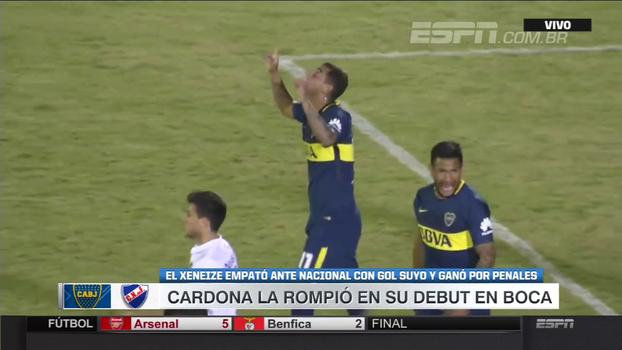 Com assistência de Chávez para Cardona, Boca Juniors vence Nacional-URU nos pênaltis em amistoso