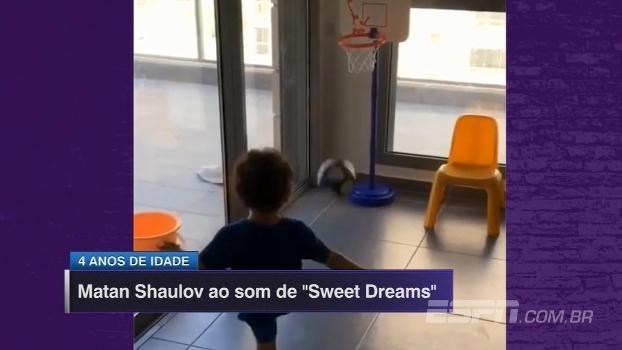 Ao som de Sweet Dreams, criança ucraniana de 4 anos esbanja pontaria certeira; veja