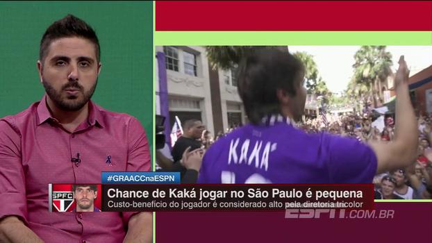 Nicola conversou com pessoas próximas a Kaká e diz que chance dele ir para o São Paulo é mínima