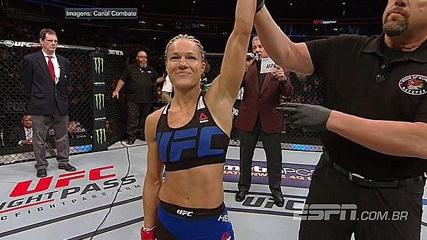 Rápida e precisa! Com quase dois minutos, Felice Herrig finaliza Kailin Curran no UFC