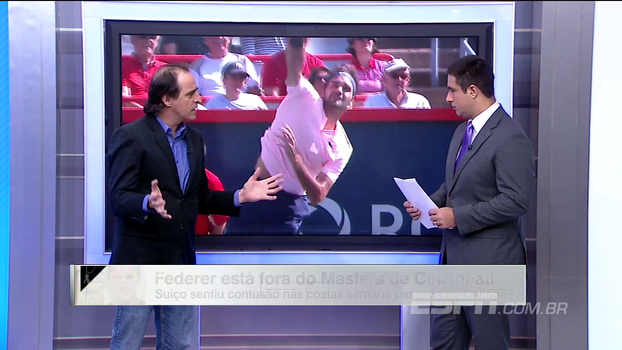 Meligeni questiona o quanto vale ser o nº 1 do mundo para Federer atualmente e lembra: 'A idade castiga'