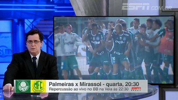Antero vê 'time misto muito bom' do Palmeiras contra o Mirassol: 'Há muitas alternativas para o treinador'