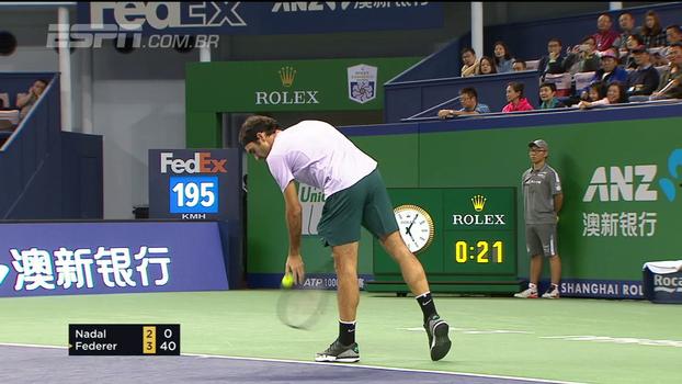 Vida longa ao rei! Roger Federer faz 'game real' diante de Rafael Nadal
