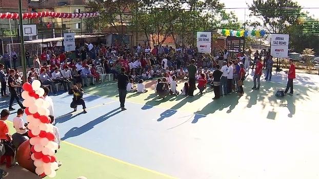 Sorrisos e transformação: ESPN inaugura 'Arena São Remo' em comunidade na Zona Oeste de São Paulo