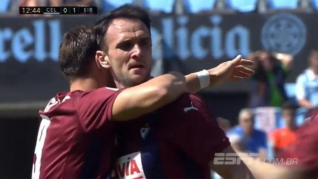 Assista aos gols da vitória do Eibar sobre o Celta por 2 a 0