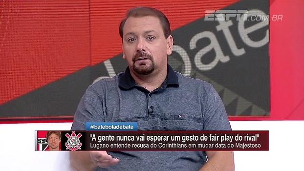 Alê Oliveira entende Corinthians recusar a mudança de data do clássico: 'Não espero isso dos times'