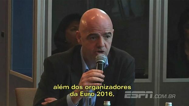 Presidente da Fifa não se preocupa com violência na Copa 2018
