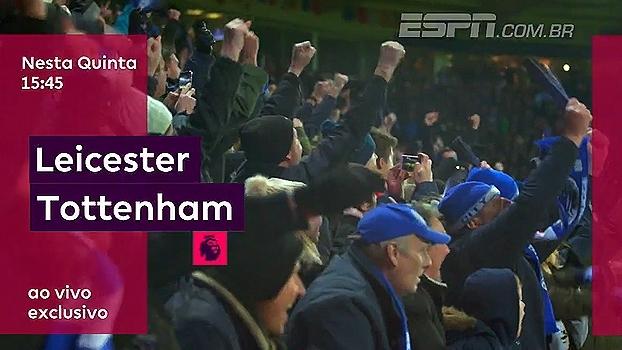 Leicester vai receber o Tottenham nesta quinta, às 15h45; ESPN Brasil e WatchESPN transmitem