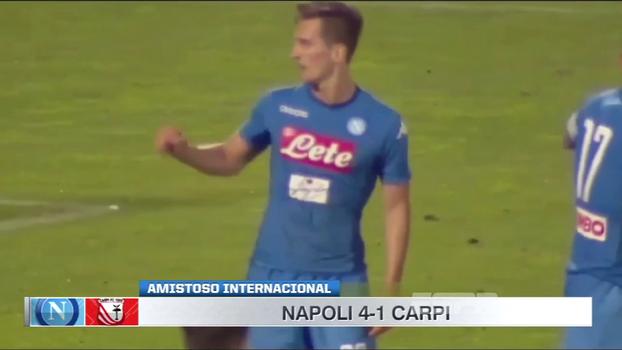 Amistoso internacional: Gols de Napoli 4 x 1 Carpi