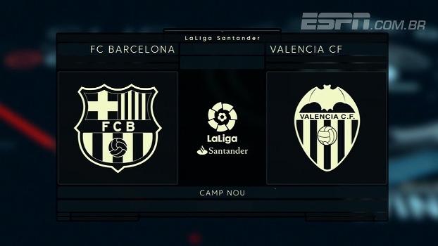 Barcelona e Valencia já se enfrentaram 163 vezes no Espanhol; veja os números