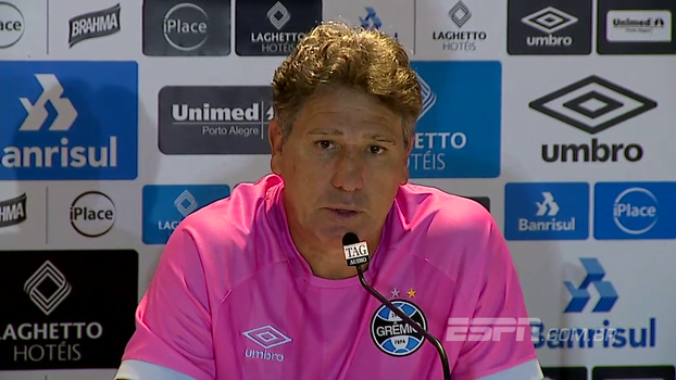 Renato Gaúcho prioriza recuperação de jogadores e admite 'queda muito grande em todos os sentidos'