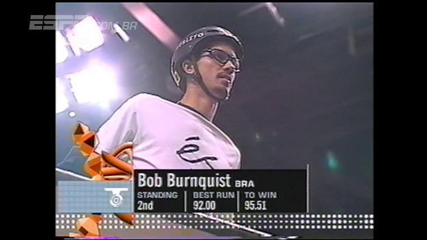 Bob durante sua corrida perfeita, em 2001, que lhe rendeu um recorde histórico