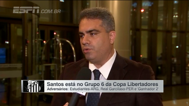 Vice do Santos, Orlando Rollo vê grupo equilibrado e avisou: 'Favoritismo não ganha jogo'