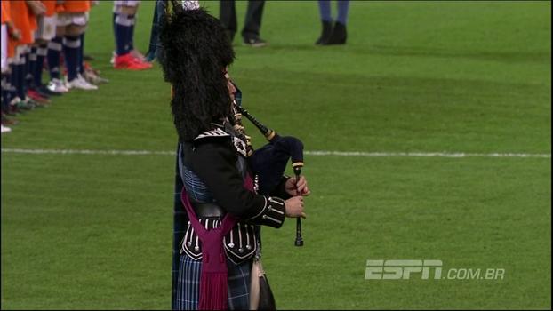 De arrepiar! Embalado por gaitas de fole, hino da Escócia é cantado a plenos pulmões antes de amistoso