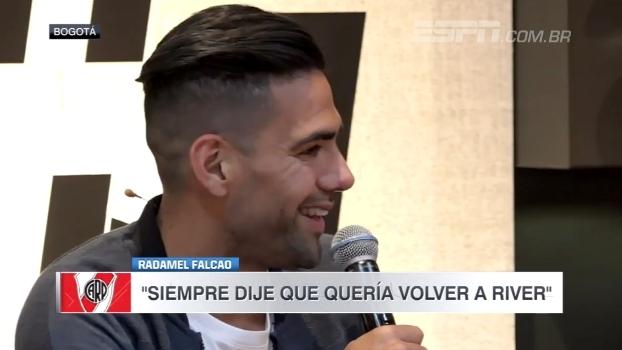 Radamel Falcão fala em desejo de encerar a carreira no River