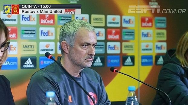 Mourinho detona gramado do Rostov: 'Difícil acreditar que vamos jogar naquilo'