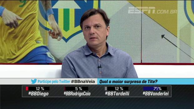 Para Mauro, é estranho Tite não convocar Vanderlei, mas chamar jogadores por fair play ou currículo