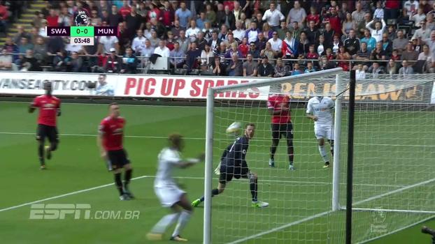 Tempo real: Swansea consegue bola na trave, e Lukaku responde com chute perigoso no contra-ataque