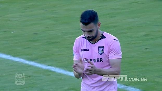 Mesmo com um a mais por mais de 1h, Palermo não sai do empate e segue na zona de rebaixamento