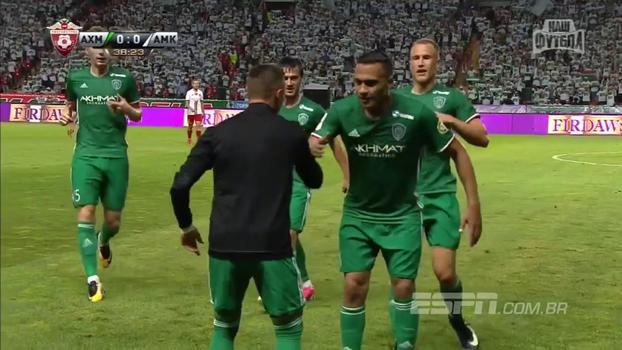 Ex-Corinthians, Léo Jabá estreia com golaço na primeira rodada do Campeonato Russo