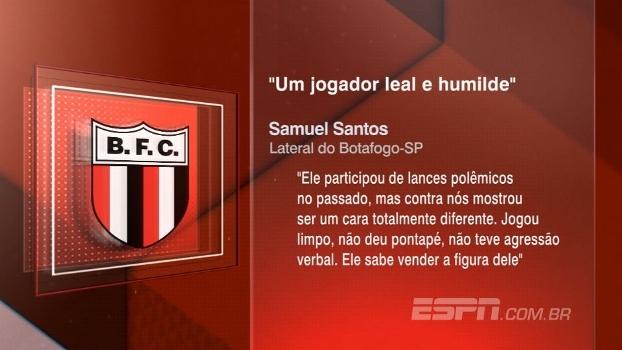 Lateral do Botafogo-SP elogia Felipe Melo: 'Leal e humilde'