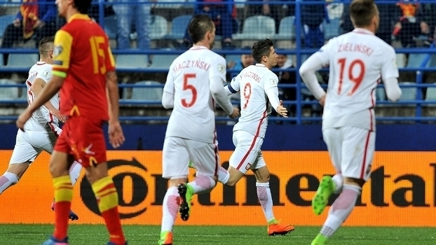 Veja os gols da vitória da Polônia sobre Montenegro por 2 a 1