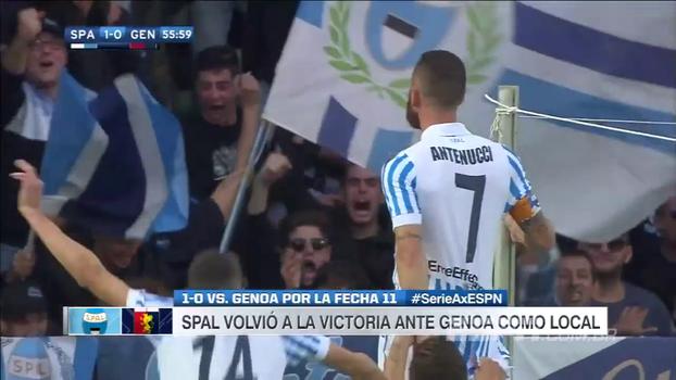 Em jogo de times da parte de baixo da tabela , SPAL vence Genoa em casa