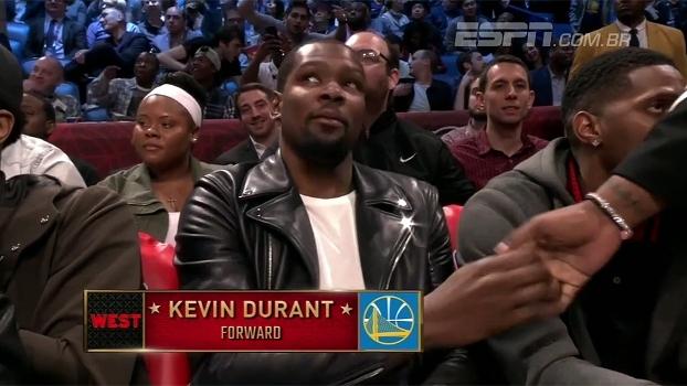 Que gafe! Locutor anuncia Kevin Durant como jogador do Thunder e deixa o astro constrangido