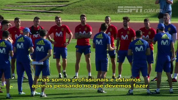 Jogadores da seleção espanhola evitam assunto Catalunha: 'Estamos aqui para jogar futebol'