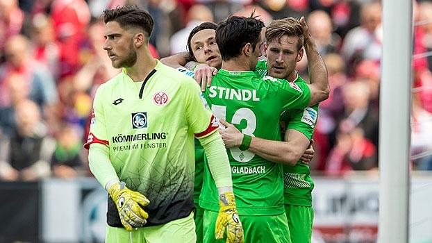 Assista aos gols da vitória do Boussia M'Gladbach sobre o Mainz por 2 a 1!
