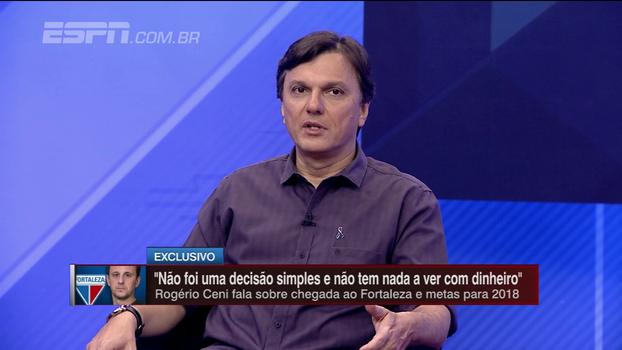 Mauro vê grande chance de aprendizado para Ceni no Fortaleza: 'Começou muito por cima e agora vai retomar o caminho'