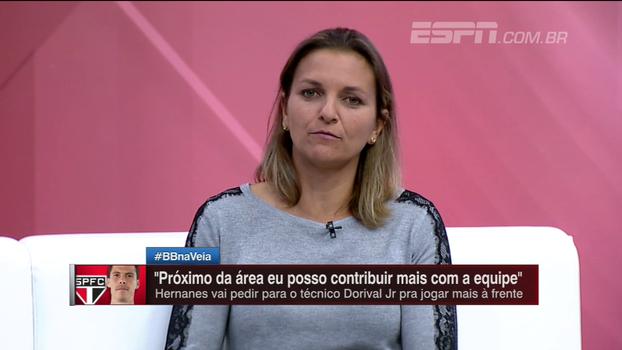 Juliana Cabral comenta chegada de Hernanes ao São Paulo e 'pedido' para jogar mais para frente