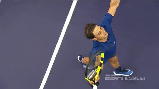 Veja a vitória de Rafael Nadal sobre Marin Cilic por 2 a 0 no