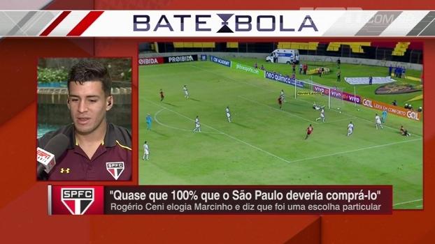 Marcinho fala sobre ter sido escolha pessoal de Ceni e 'coringa' no São Paulo