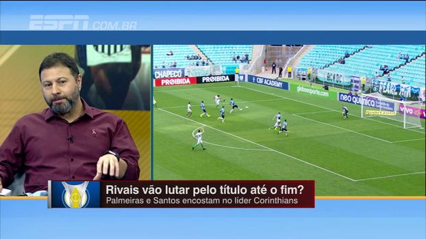 Ainda sem acreditar no Santos, Marra analisa disputa por título na reta final: 'Vejo o Palmeiras mais consistente'
