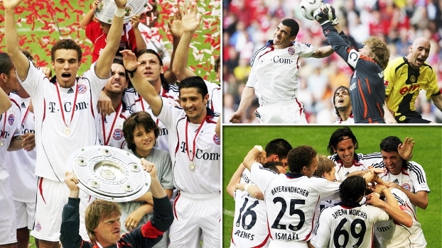 Bayern 3 x 3 Dortmund de 2006 teve gols de Schweinsteiger, Ballack e Koller, festa e muita cerveja