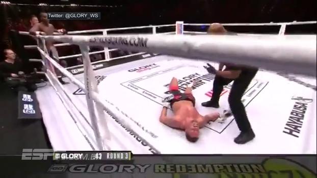 Colocou para dormir! No kickboxing, Ilunga acerta bomba em Michael Duut e desmonta oponente com nocaute incrível