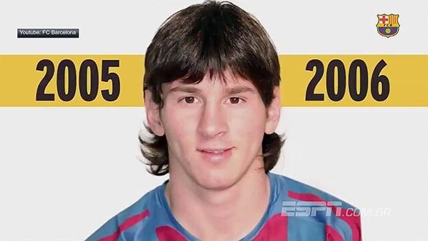 Dos mullets ao topete loiro; veja a mudança de Messi desde sua estreia até hoje