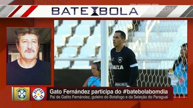 Gato Fernández fala sobre futuro do filho no Botafogo e analisa: 'Muito mais técnico do que eu'