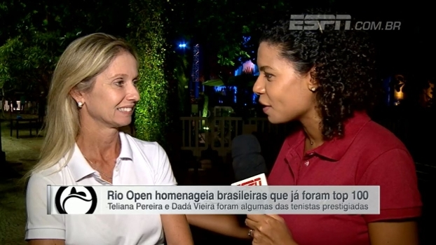 Brasileiras que já foram top 100 no tênis recebem homenagens na abertura do Rio Open