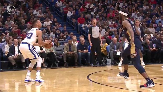 De qualquer distância! Warriors x Pelicans tem sequência de cinco bolas de 3 consecutivas