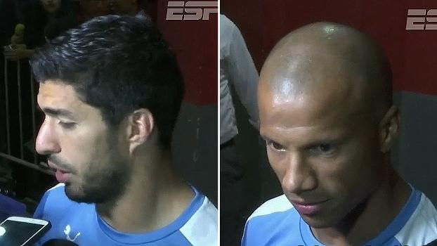 Suárez vê falta de força ao Uruguai no jogo; Carlos Sánchez diz que time sentiu as três derrotas